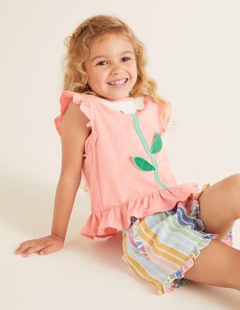 Flatter-T-Shirt - Delfinrosa, Blume