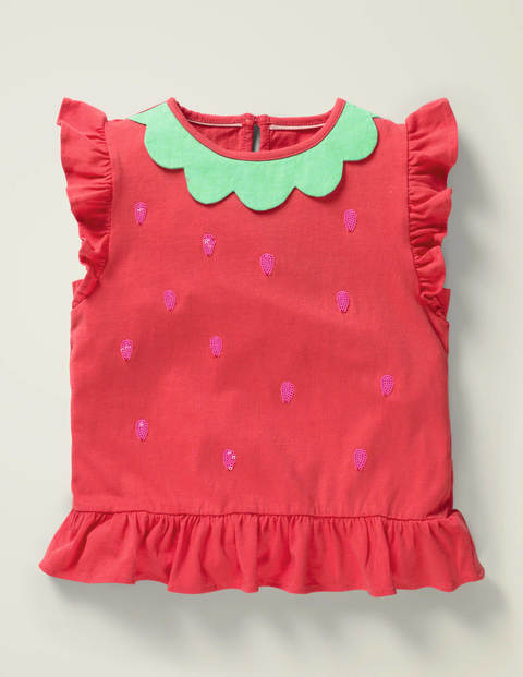 Flutter T-Shirt - Summer Poppy Red Strawberry