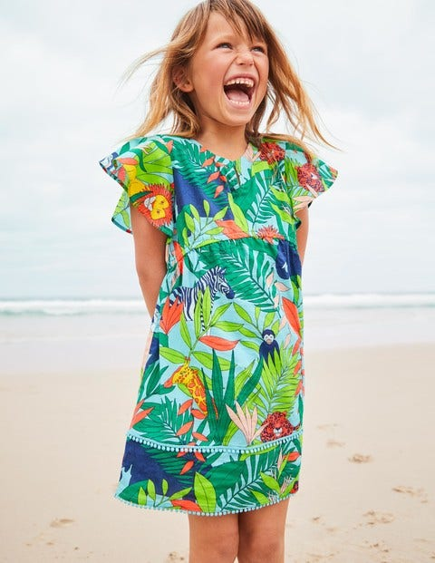 Fun Printed Kaftan - Multi Jumbo Jungle