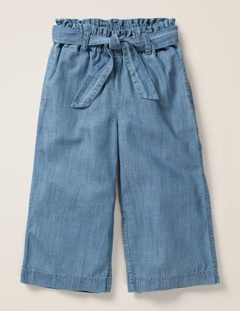 Tie-waist Culotte - Chambray