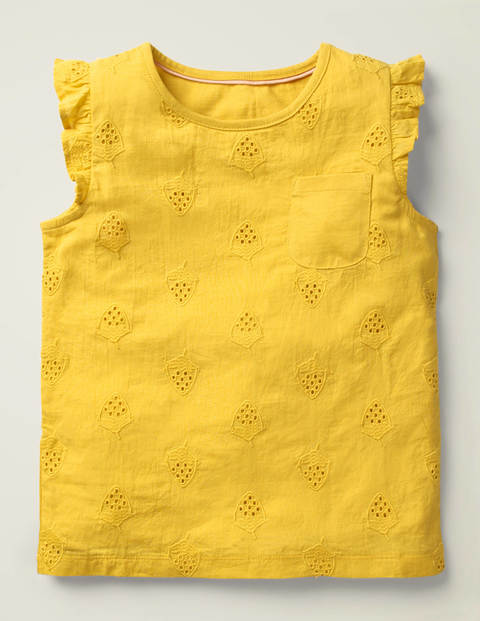 Broderie Top - Daffodil Yellow