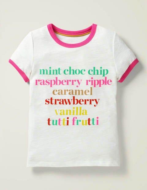 Slogan T-Shirt - White Ice Cream