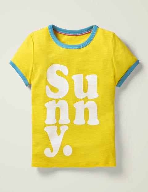 Slogan T-shirt - Lemon Zest Yellow Sunny