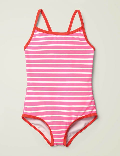 Novelty Bottom Swimsuit - Sweet Pink/Ivory