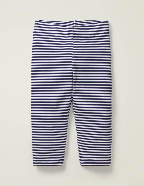 Fun Cropped Leggings - Indigo Navy/ White