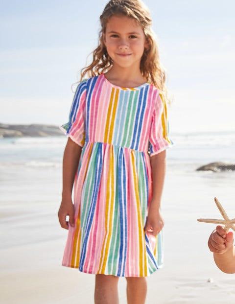 Stripe Woven Dress - Multi Stripe