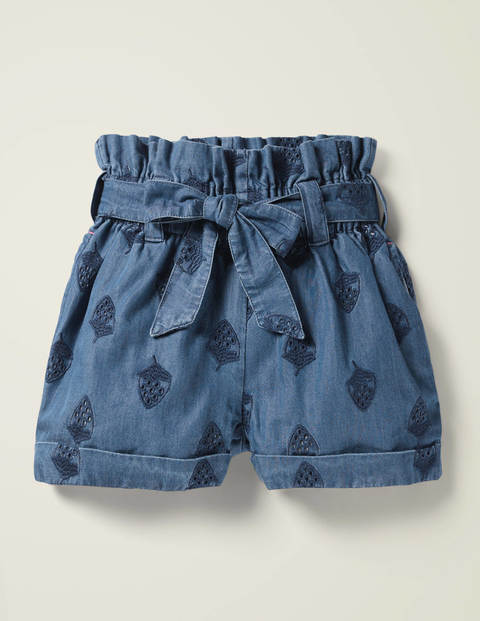 Textured Tie-Waist Shorts