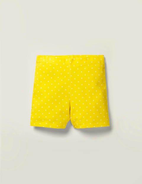 Fun Essential Jersey Shorts - Lemon Zest Yellow Pin Spot