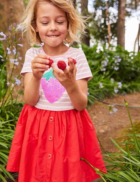 Sequin Colour Change Dress - Boto Pink Strawberry