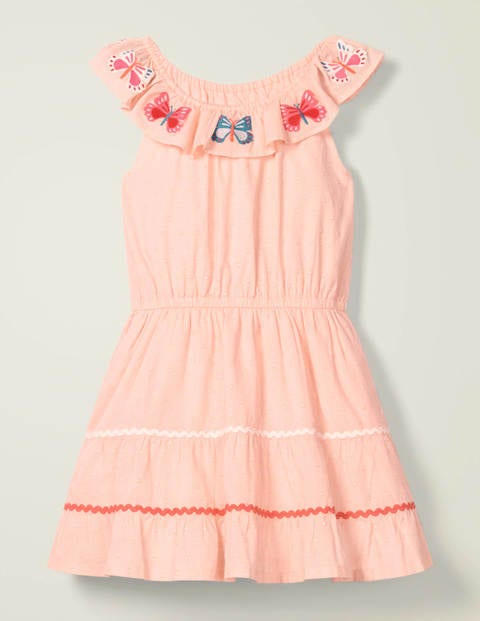 Embroidered Ric Rac Dress Joy - Provence Dusty Pink