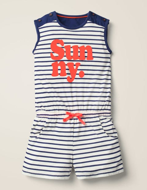 Slogan Jersey Playsuit