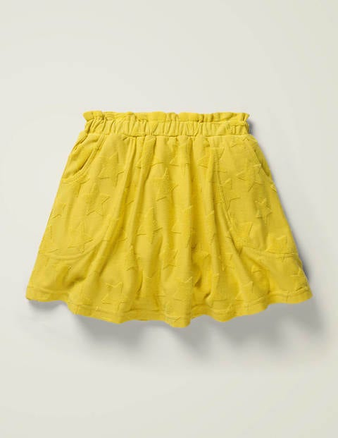 Fun Textured Towelling Skort - Daffodil Yellow