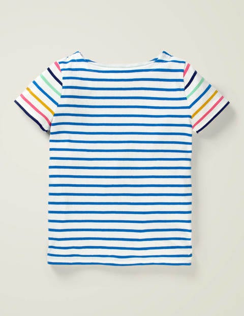 Short-sleeved Breton - Bold Blue/White