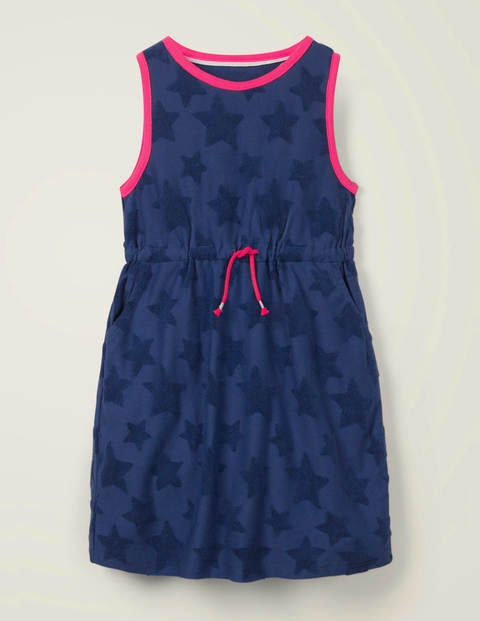 Towelling Dress - Indigo Navy
