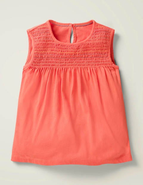 Smocked Top - Peach Melba Pink
