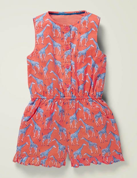 Button Through Woven Playsuit