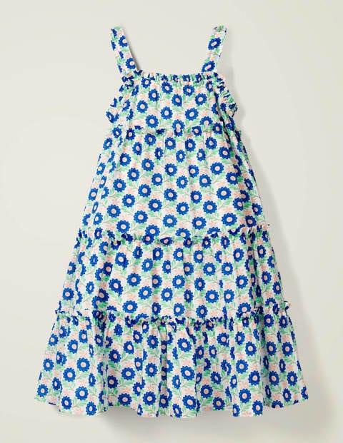 Twirly Woven Dress - Blue Primrose Bud
