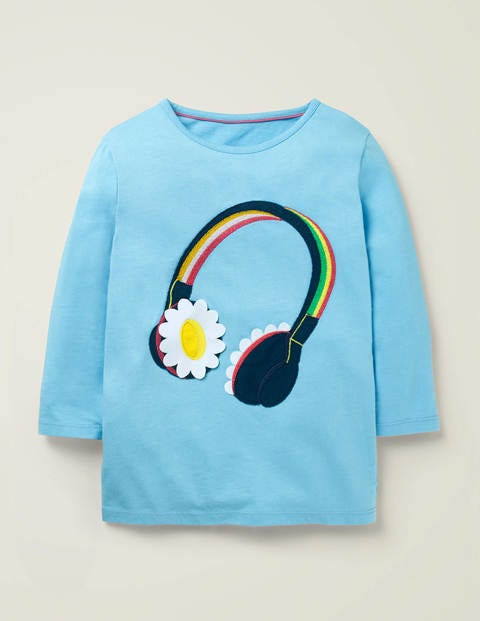 Music Flutter T-Shirt - Surfboard Blue Headphones