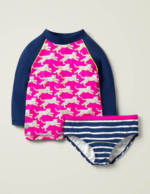 Cheetah Rash Vest Set - Chiringuito Pink Cheetah