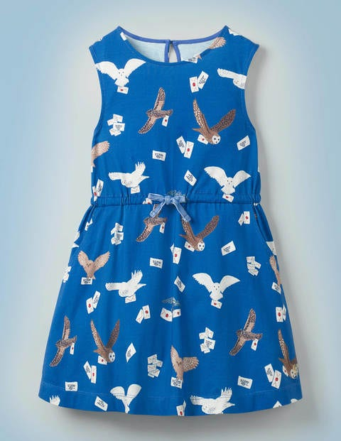 Owl Post Jersey Dress - Duke Blue Owl