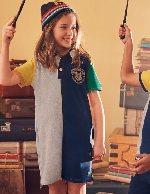Hogwarts Rugby Dress - Mid Grey Jaspé Hotchpotch