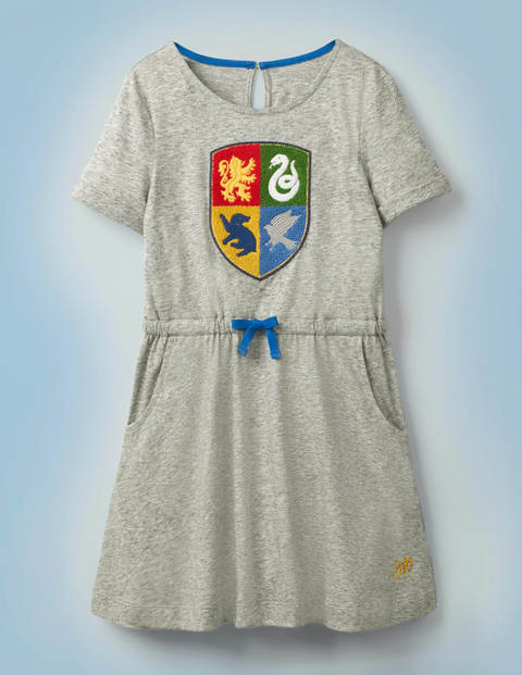 Hogwarts Crest Dress - Mid Grey Jaspé Marl