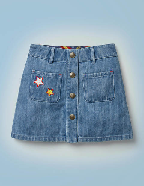 Harry Pocket Denim Skirt - Mid Vintage Denim
