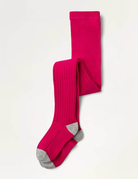 Ribbed Tights - Bright Pink