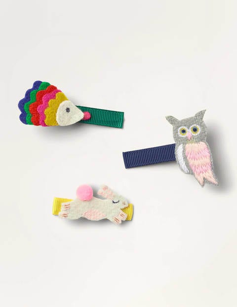 Hair Clips 3 Pack - Woodland Friends