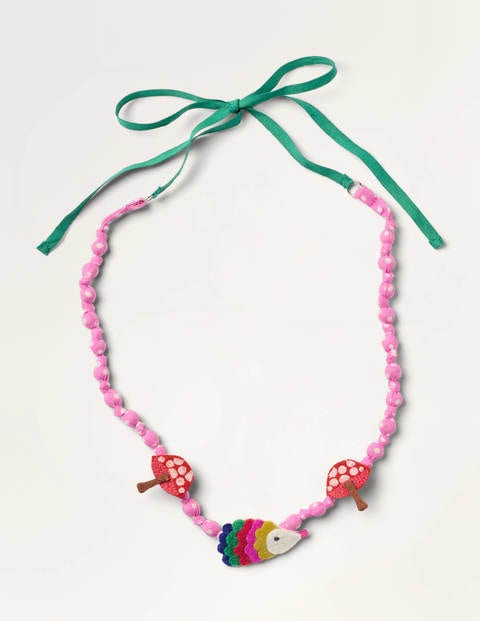Fabric Necklace - Boto Pink