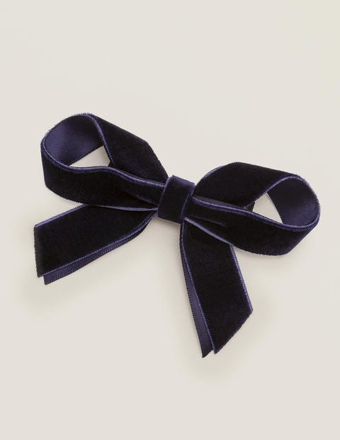 Large Bow Hair Clip - College Navy