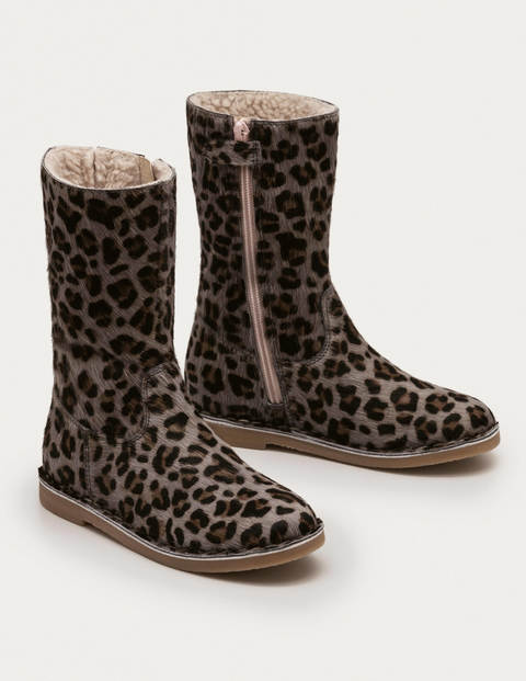 Tall Boots - College Navy Leopard