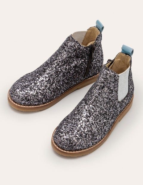Leather Chelsea Boots - Mystic Metallic Glitter