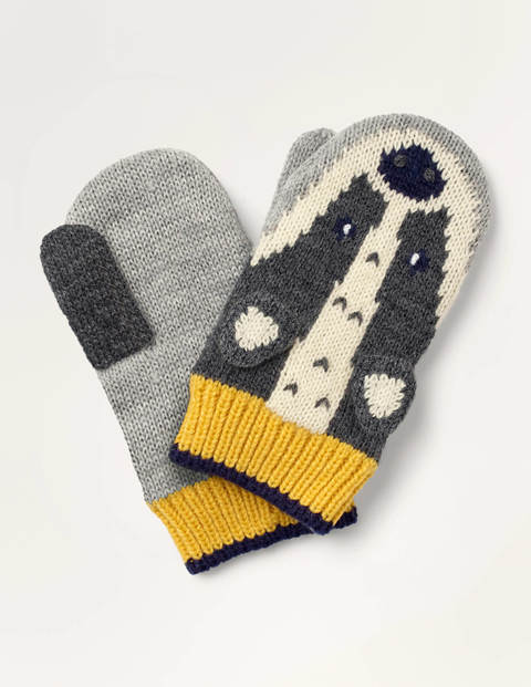 Fun Badger Mittens