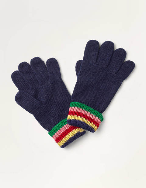 Sparkle Gloves - College Navy