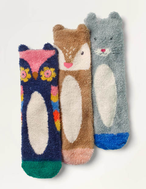 Fluffy Animal Socks 3 Pack