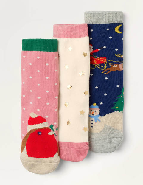 Christmas Socks 3 Pack - Multi