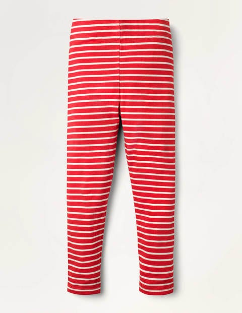 Legging fun - Rouge rockabilly/ivoire