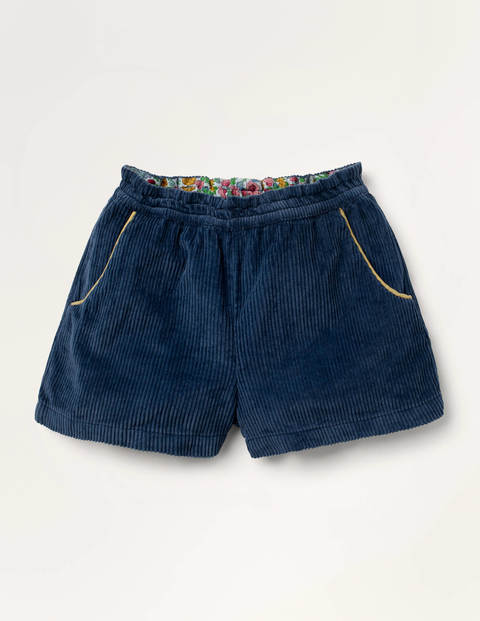 Chunky Cord Shorts - College Navy
