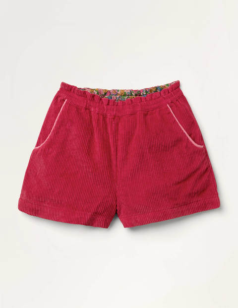 Chunky Cord Shorts - Rockabilly Red