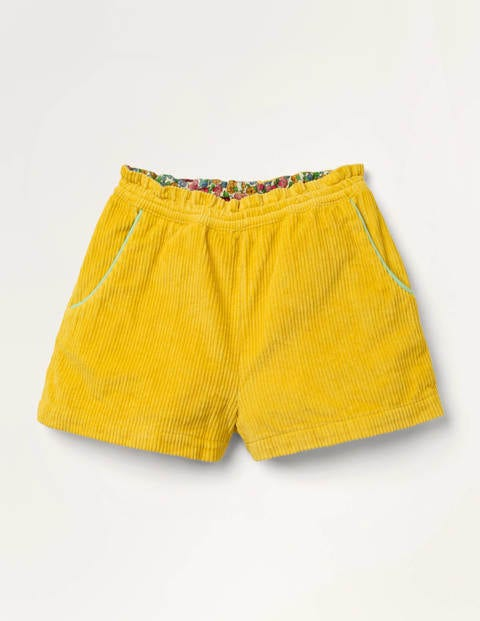 Chunky Cord Shorts - Honeycomb Yellow