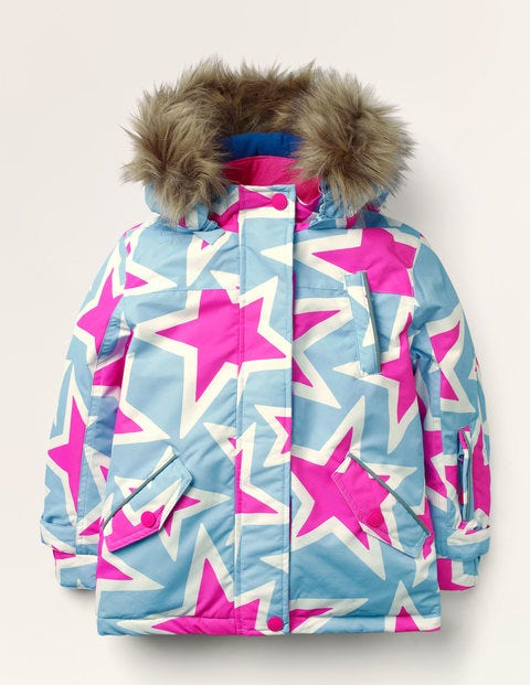 All-weather Waterproof Jacket - Frost Blue Stars