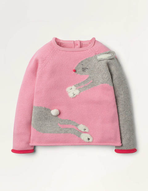 Fun Bunny Sweater - Formica Pink Bunny