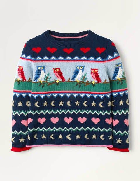 Cosy Owl Fair Isle Sweater