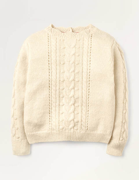 Pointelle Cable Jumper