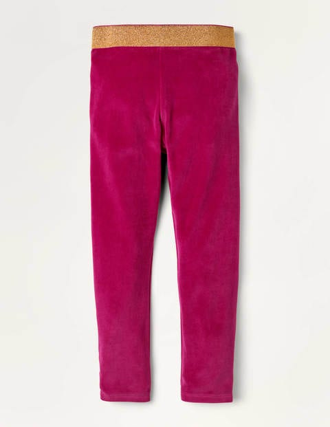 Sparkle Waist Velvet Leggings