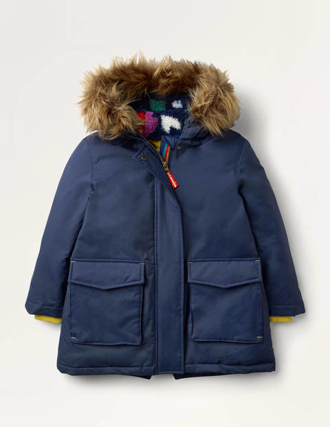 Cosy Waterproof Parka - College Navy