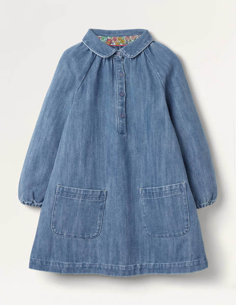 Collared Woven Dress - Chambray