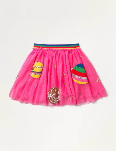Sequin Appliqué Tulle Skirt - Tickled Pink Space