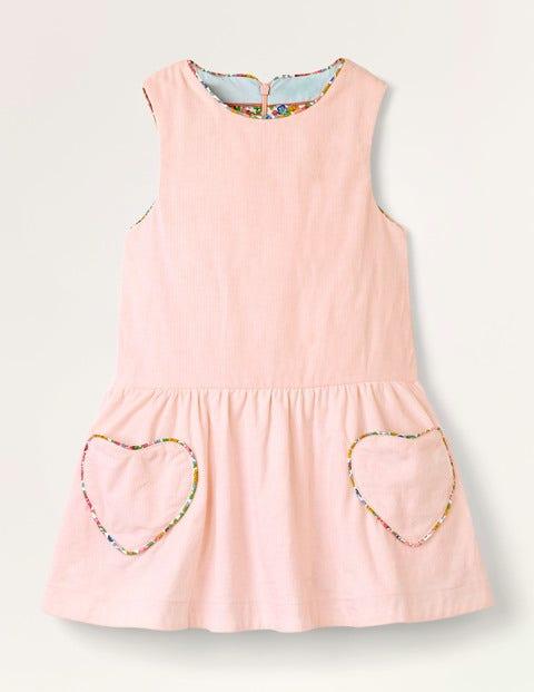 Heart Pocket Woven Dress - Boto Pink